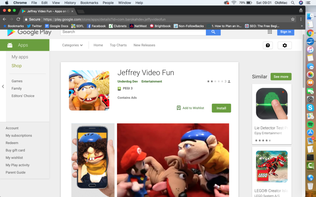 Reporting an Inappropriate App to Google Play (from a