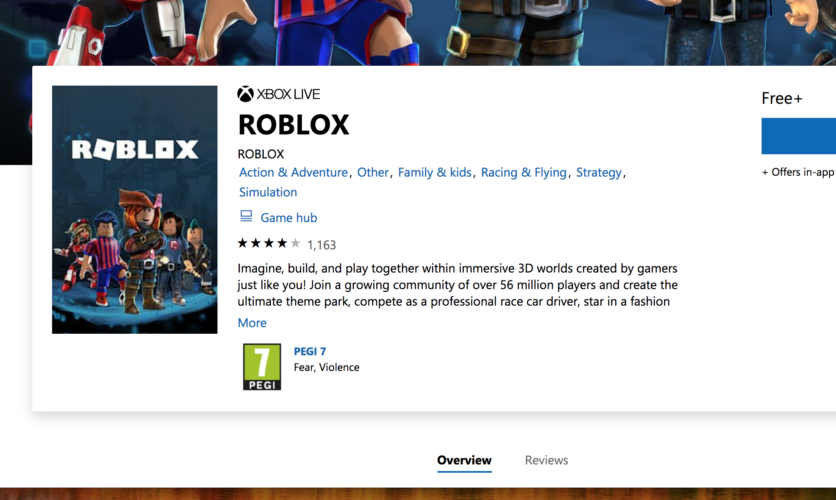 roblox on xbox one uk